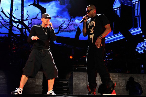 All star guests make jay z eminems yankee stadium debut a home jay z and eminem opened their two night visit to yankee stadium on monday september 13 with an unforgettable show that included beyonce kanye west malvernweather Images