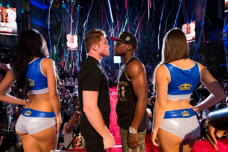 Canelo and Mayweather face off