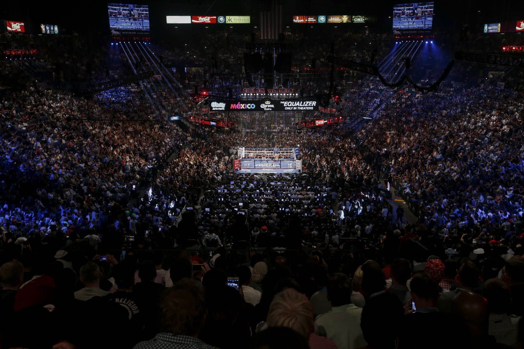 MGM Grand Garden Arena Beats Boxing and Mayhem