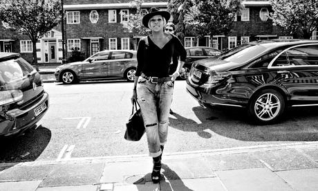 Mary J Blige arrives at RAK studios in St John's Wood, London, where she is recording her new album.
