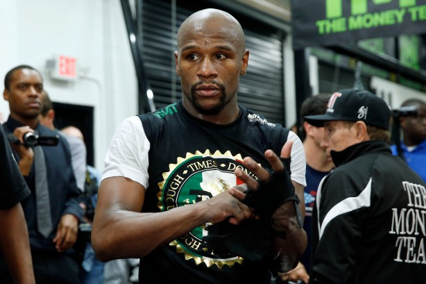 Floyd Mayweather Work Out for the Press