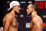 Sergey Kovalev vs Nadjib Mohammedi IBF-WBA-WBO  Light Heavyweight Championship weigh-in Sergey Kovalev 174.5 vs. Nadjib Mohammedi 173  Photo credit: WILL HART