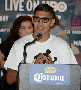 Oct 1,2015.  CarsonCA. MATTHYSSE VS. POSTOL FINAL PRESS CONFERENCE.Photo by Gene Blevins/Hogan Photos