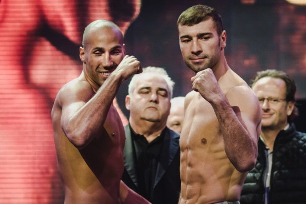 Weigh in-0004 (James Degale and Lucian Bute)