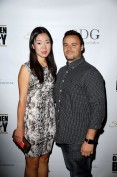 """LAS VEGAS, NV - MAY 06: Jewell Sun and Michael Schiavone arrive at Smile Design Gallery's ""The Art of Boxing"" event at Hakkasan Las Vegas Restaurant and Nightclub at MGM Grand Hotel & Casino May 6, 2016 in Las Vegas. (Photo by Isaac Brekken/Getty Images for Smile Design Gallery)"""