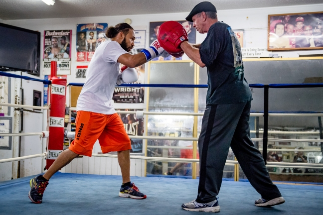ST PETERSBURG, FLORIDA - FEBRUARY 15: Keith Thurman training during media day at St. Petersburg Boxing Club on February 15, 2017 in St. Petersburg, Florida (photo by Douglas DeFelice/Prime 360 Photography)