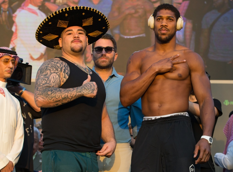 Andy Ruiz Jr and Anthony Joshua weigh in